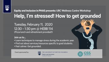 Help, I'm stressed!: How to get grounded