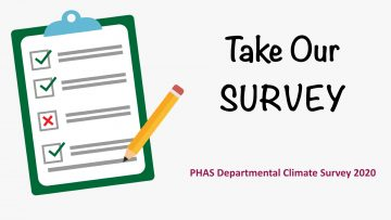 PHAS Departmental Climate Survey 2020