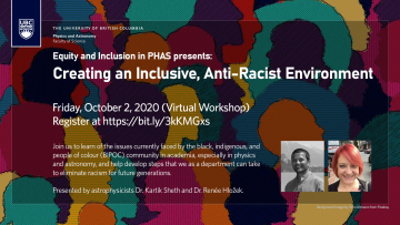 E&I Workshop: Creating an Inclusive, Anti-Racist Environment